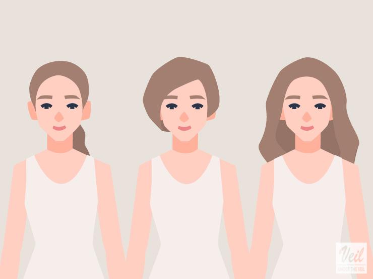 髪型の参考イラスト
